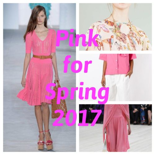 TRENDS FOR SPRING 2017 ; Chapter 3 PINK