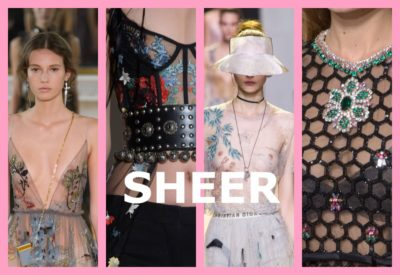 SHEER IS HERE , DESIGNERS ARE FREEING THE BODY ONE SHEER DRESS AT A TIME.