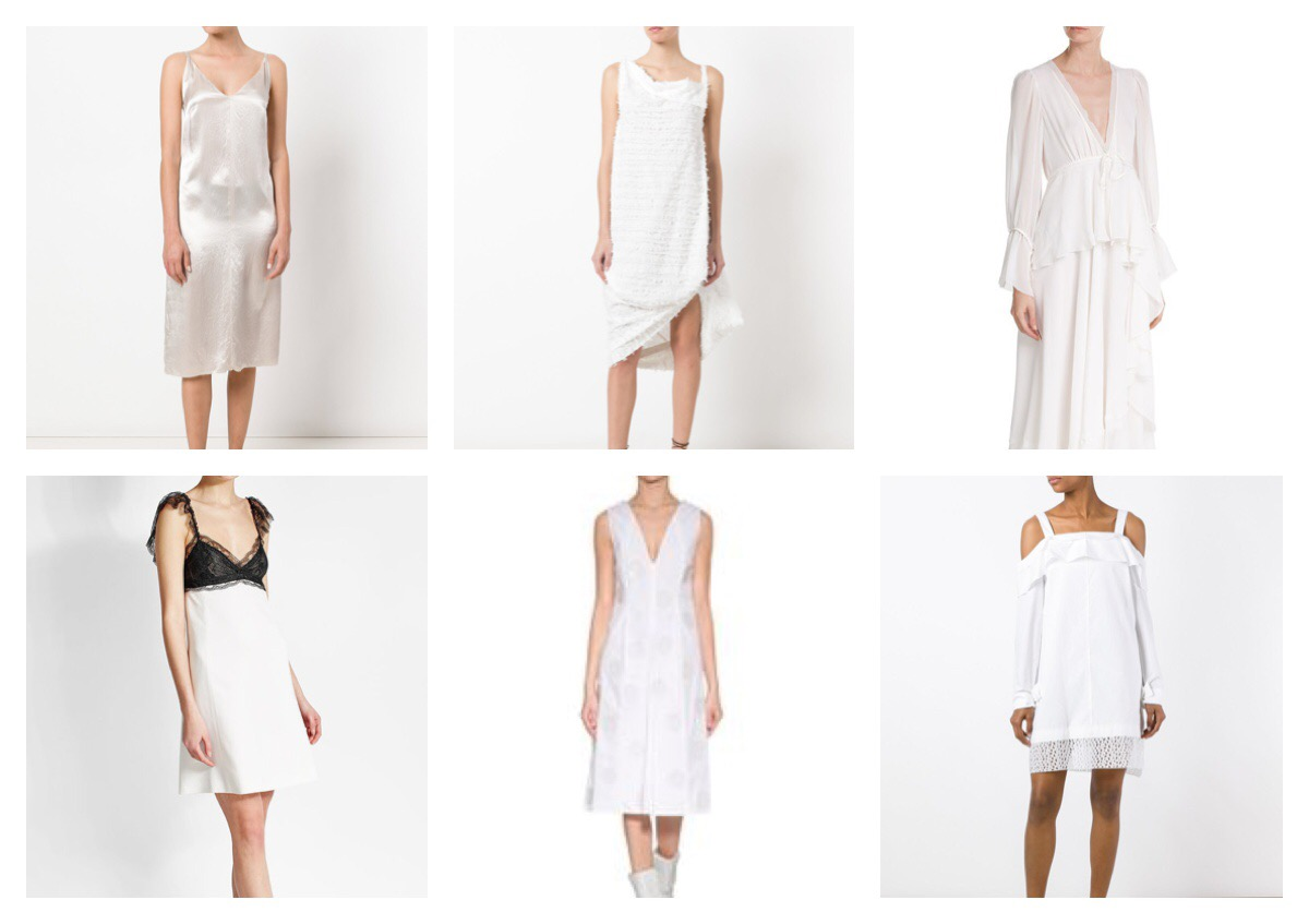 LITTLE WHITE DRESS ; FIND ONE YOU'LL LOVE AND CHERISH.