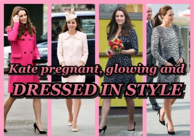 KATE PREGNANT,GLOWING AND DRESSED IN STYLE